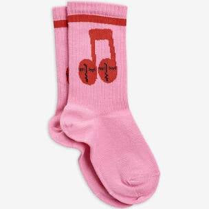 Mini Rodini - AW20 - Notes Socks - Pink