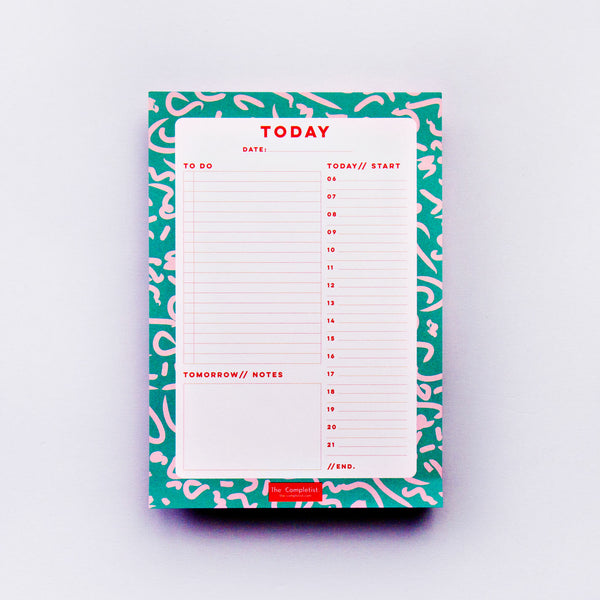 The Completist - GREEN SQUIGGLE DAILY PLANNER PAD