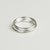 Weathered Penny - Stacking Rings - Silver