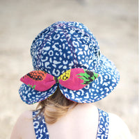Little Hotdog Watson Hat - Globetrotter - Leopardtude With pineapple Punch Bow