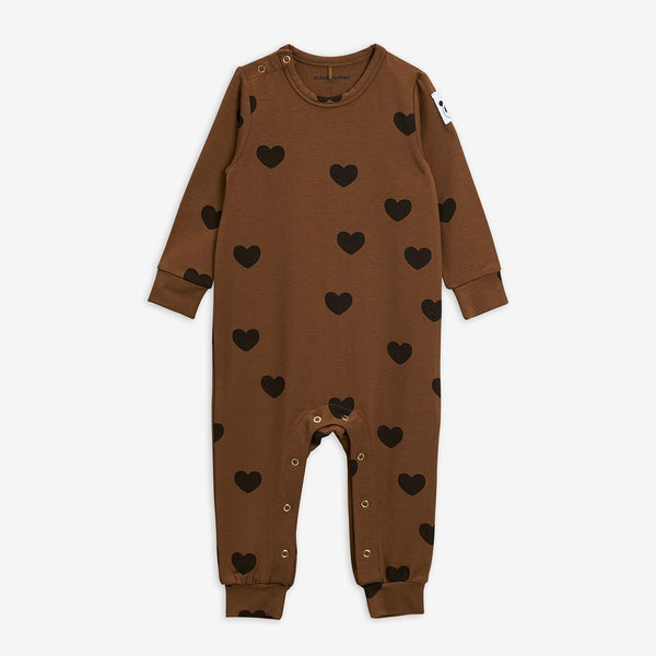 Mini Rodini - AW20 - Hearts Jumpsuit - Brown