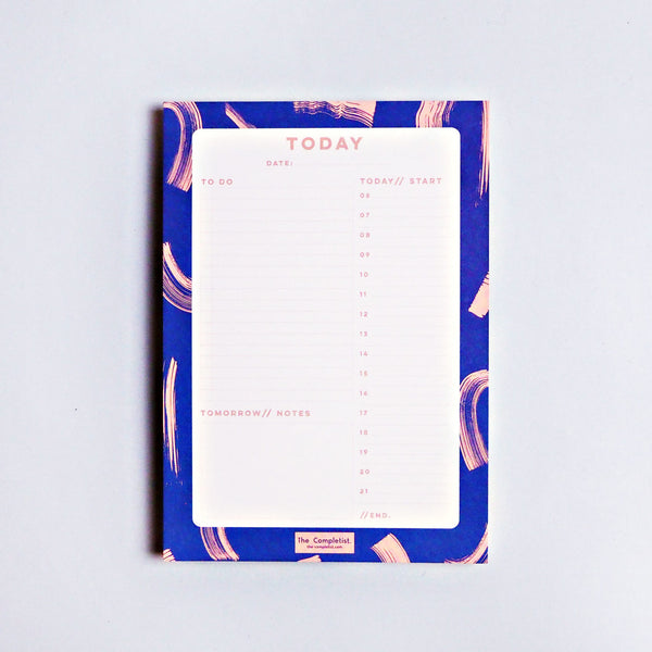 The Completist - BLUE SHADOW BRUSH DAILY PLANNER PAD