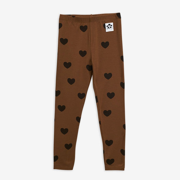 Mini Rodini - AW20 - Hearts Leggings - Brown