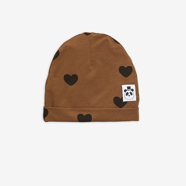 Mini Rodini - Hearts Beanie - Brown