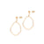 Weathered Penny - Asymmetric Oval Earrings - Gold