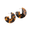 Weathered Penny - Resin Curve - Earrings