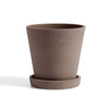 Hay - Flowerpot With Saucer L - Terracotta