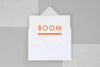Ola Foil Blocked Cards: Boom White Fluorescent Orange