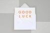 Ola Foil Blocked Cards: Good Luck White Fluorescent Orange