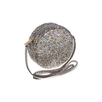 Mimi & Lula - ROUND GLITTER CROSS BODY BAG - HAEMATITE