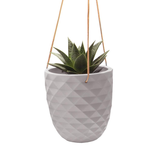 Chive - Thimble Hanging Planter - Light Grey