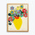 Kitty McCall - A4 Yellow Vase Print - unframed