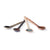 HK LIVING  -Kyoto ceramics: japanese tea spoons - set of 4