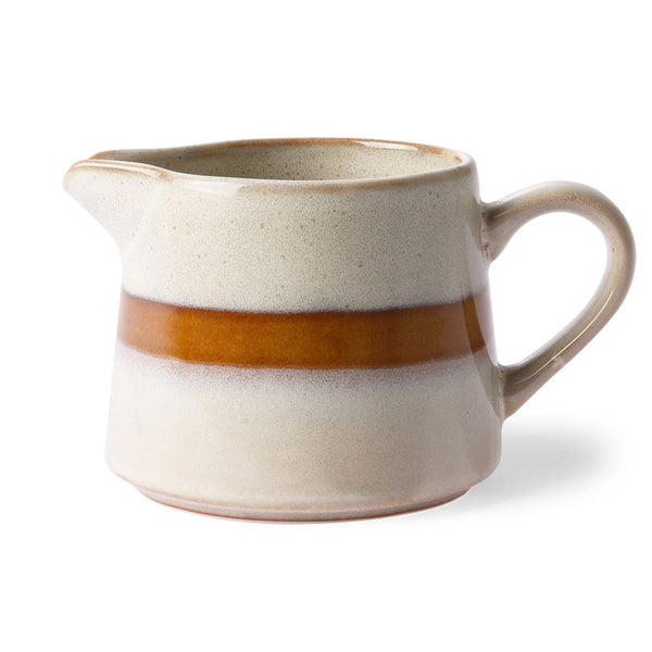 HK LIVING - Ceramic 70's creamer - Snow