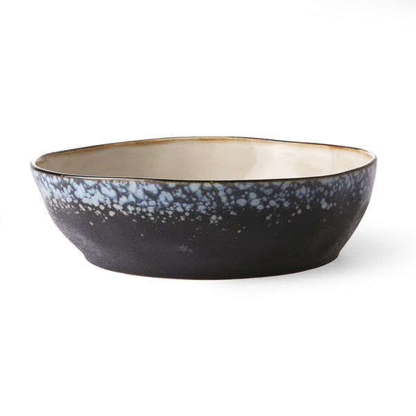 HK LIVING  - ceramic 70's pasta bowl: galaxy
