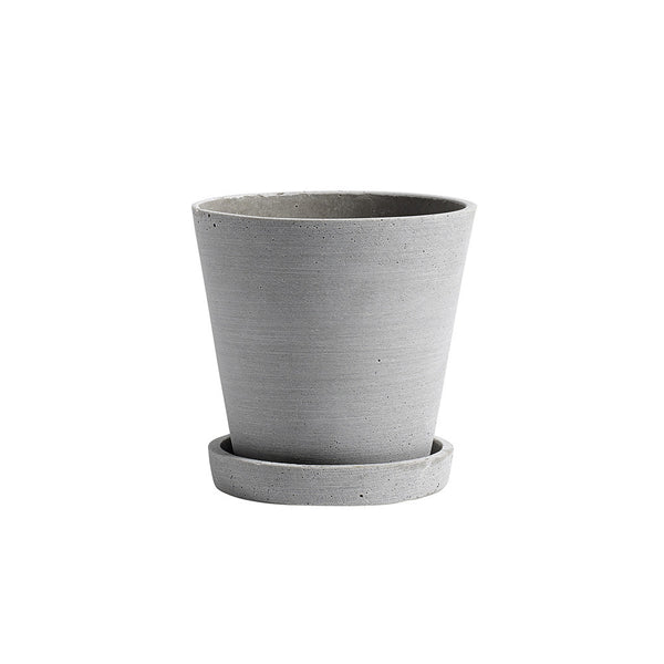 Hay - Flowerpot With Saucer M - Grey