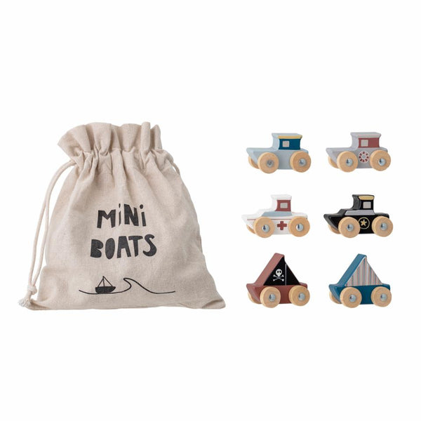 Bloomingville - Lissen Toy Boat, Multi-color, MDF