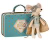 Maileg Mouse, Guardian Hero in suitcase