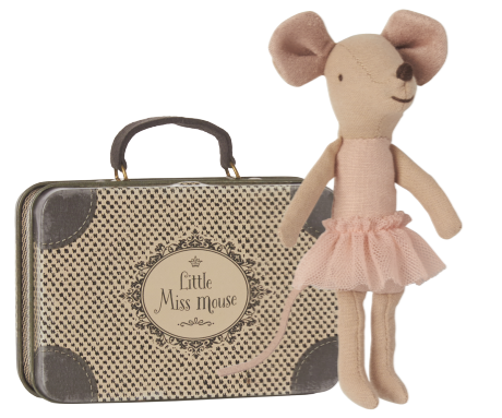 Maileg Ballerina Mouse Big Sister in suitcase