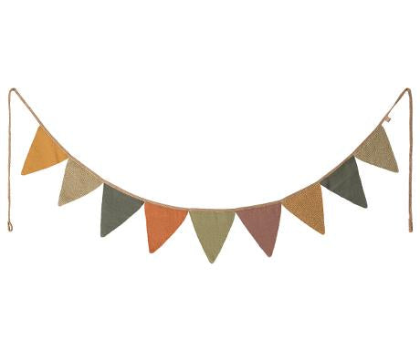 Maileg - 9 Flag Garland - Multi