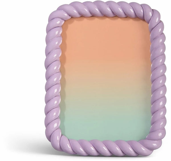 &Klevering - Photo frame braid rectangle lilac