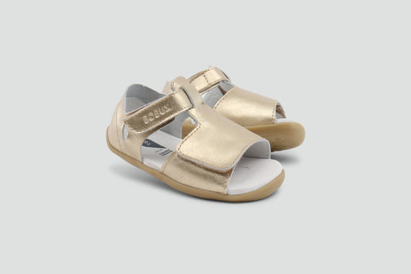 Bobux Step Up Mirror Open Sandal Misty Gold