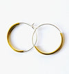 Brass & Bold - Silver Plated with brass curve - Hoops