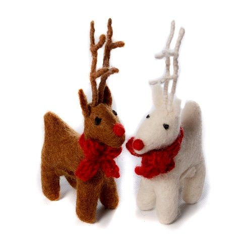 Amica - Small Standing Reindeer Decoration