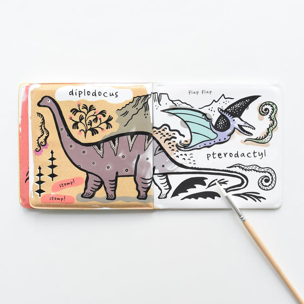 Wee Gallery - Bath Book - Dinosaur