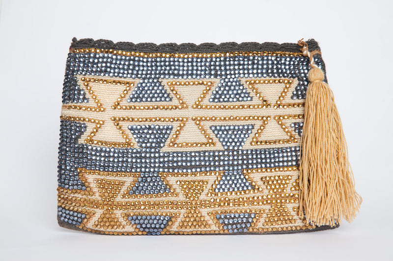 Embellished Crystal Waayu Clutch