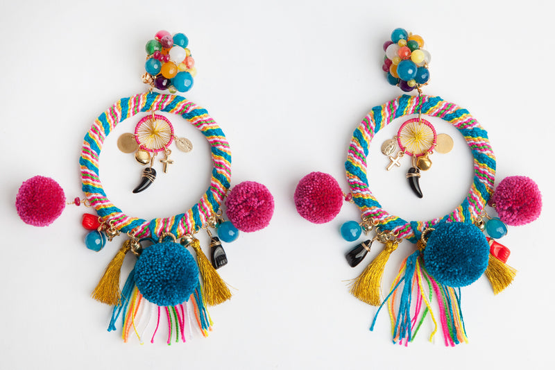 Pom Pom Chiqui Earrings