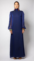 Silk Tunic Blouson Dress