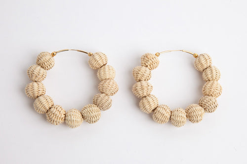Tropical Palm Hoop Earrings