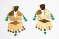 Tribal Gold & Emerald Earrings