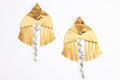 24K gold Campana Earrings