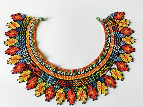 Tribal Bib-like Beaded Necklace