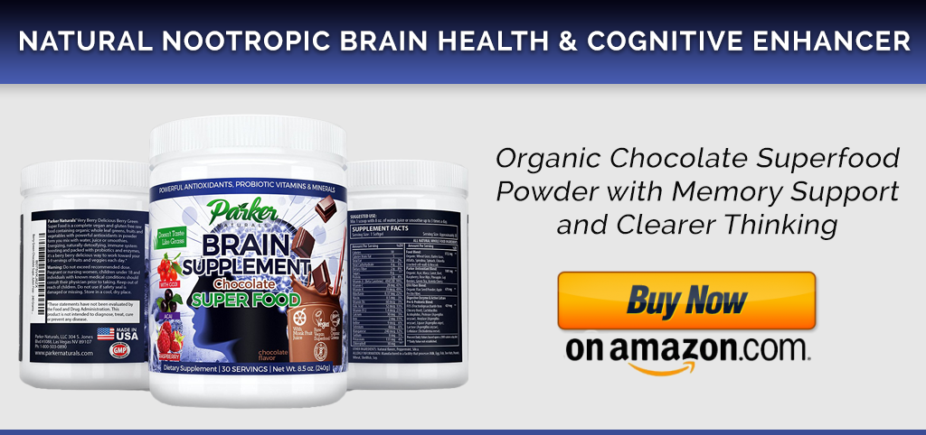 Parker Naturals Brain Boost Powder - Chocolate Superfood