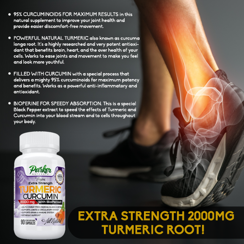 Premium Extra Strength Turmeric Curcumin 2000mg For Joint Health from Parker Naturals