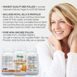 BEST Bee Pollen, Royal Jelly and Propolis - Highest Quality Made by USA Bee Keepers - Parker Naturals - Journey to a better you.