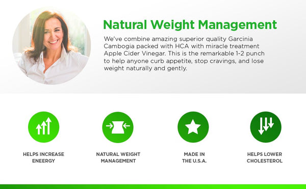 All Natural Garcinia Cambogia with Apple Cider Vinegar - Parker Naturals - Journey to a better you.