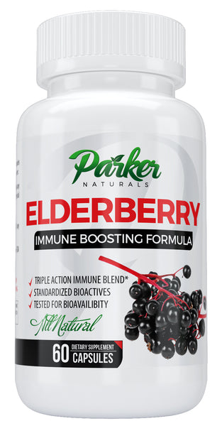 Elderberry Capsules by Parker Naturals - Parker Naturals - Journey to a better you.