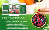 Berry Green Superfood with Goji, Acai & Raspberry, Raw Organic Nutrition - Parker Naturals - Journey to a better you.