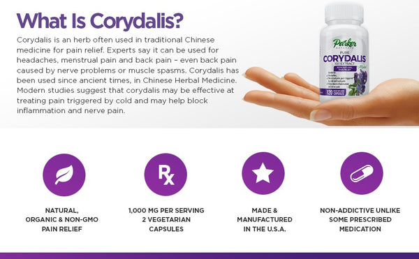 Parker Naturals® Corydalis Natural Pain Relief