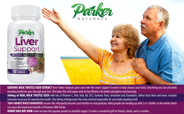 Premium Milk Thistle Liver Support Formula - Parker Naturals - Journey to a better you.