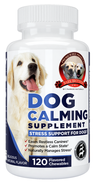 Natural Dog Calming Formula Supplement - Parker Naturals - Journey to a better you.