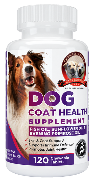 Shiny Coat Dog Supplement - Parker Naturals - Journey to a better you.