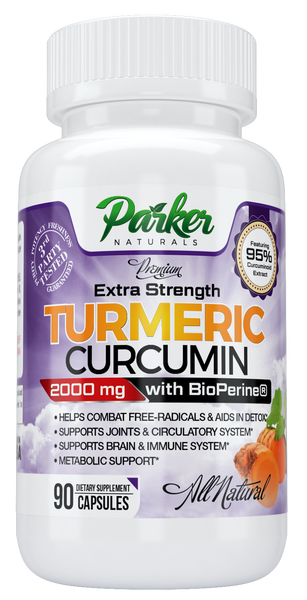 Premium Extra Strength Turmeric Curcumin 2000mg For Joint Health from Parker Naturals - Parker Naturals - Journey to a better you.