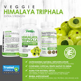 Cleansing Triphala 1100mg Supplement for Extra Strength Detox Support, Natural Digestive Aid, Powerful Antioxidant. 120 Veggie Capsules for 60 Day Supply. Made in USA - Parker Naturals - Journey to a better you.