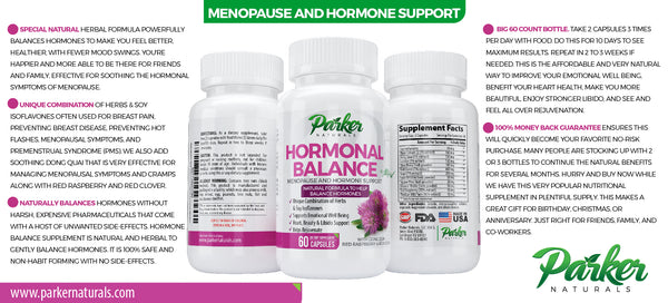 Hormone Balance with Menopause Support - Parker Naturals - Journey to a better you.