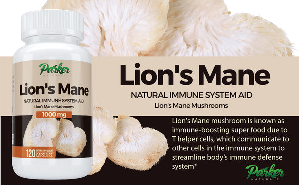 Lion's Mane Natural Mushroom Supplement - Parker Naturals - Journey to a better you.